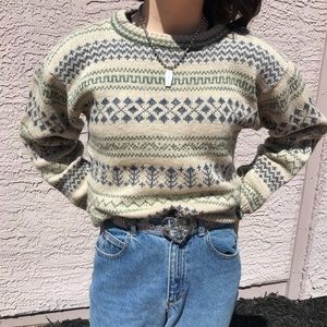 Vintage LL Bean Grandpa Sweater